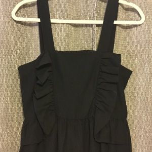 H&M Short LBD Black Dress With Ruffles Size 8